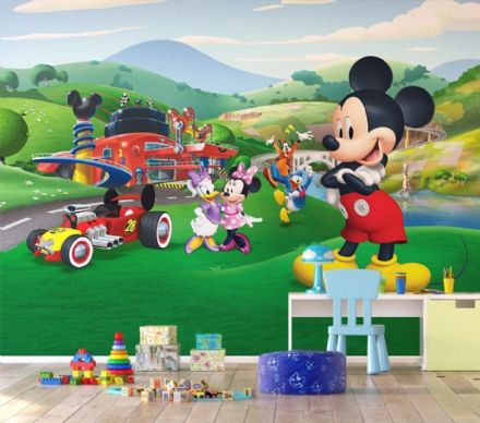 Disney Premium wall mural Mickey Mouse race